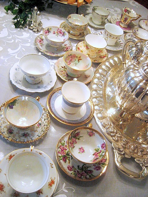 Tea party tableware