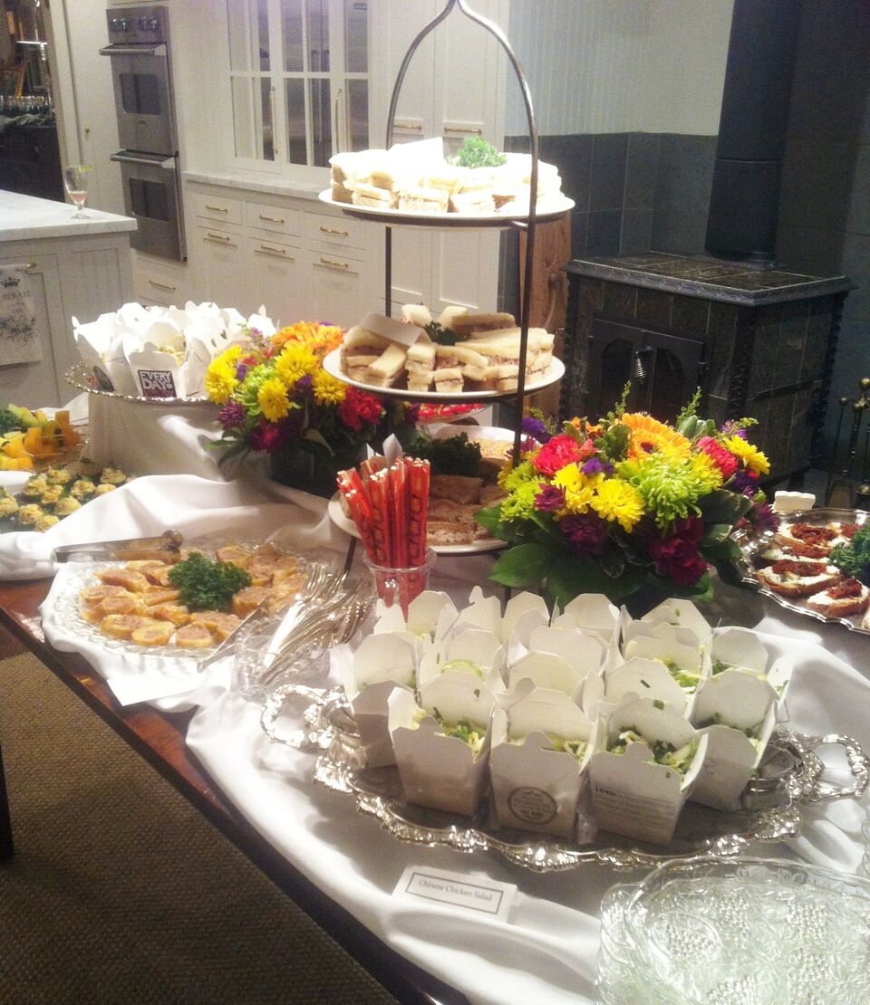 catered party, buffet style
